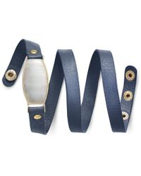 INC International Concepts - Blue Gold-tone White Resin Stone And Navy Faux Suede Wrap Bracelet, Only At Macy's - Lyst