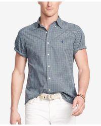 Polo Ralph Lauren - Gray Men's Short-sleeve Checked Shirt for Men - Lyst