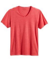 Guess - Orange Men's Heathered Crew-neck T-shirt for Men - Lyst