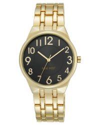 Nine West - Metallic Women's Gold-tone Stainless Steel Bracelet Watch 38mm Nw/1756bkgb - Lyst