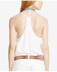 Polo Ralph Lauren - White Twill T-back Tank - Lyst