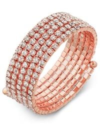 INC International Concepts - Multicolor Rose Gold-tone Multi-crystal Coil Bracelet - Lyst