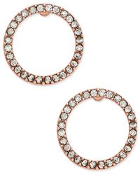 INC International Concepts | Metallic Pave Crystal Circle Stud Earrings, Only At Macy's | Lyst