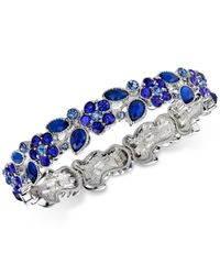 2028 | Silver-tone Blue Flower Petal Stretch Bracelet In | Lyst