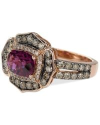 Le Vian | Multicolor Chocolatier Raspberry Rhodolite Garnet (1-1/2 Ct. T.w.) And Diamond (9/10 Ct. T.w.) Ring In 14k Rose Gold | Lyst