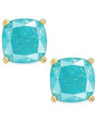 kate spade new york   Metallic Gold-tone Sparkle Square Stud Earrings   Lyst