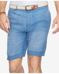 Polo Ralph Lauren - Blue Men's Big & Tall Linen Shorts for Men - Lyst