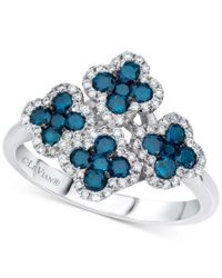Le Vian - Blue Diamond Flower Ring (1 Ct. T.w.) In 14k White Gold - Lyst