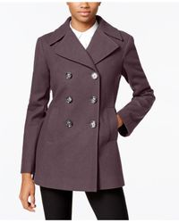 Kenneth Cole | Purple Double-breasted Peacoat, Only At Macy's | Lyst