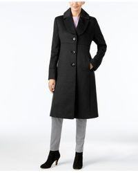 Jones New York - Black Petite Notch-collar Walker Coat - Lyst