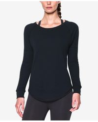 Under Armour | Black Waffle-knit Top | Lyst