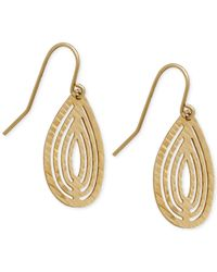 Macy's | Metallic Teardrop-shape Cut-out Drop Earrings In 10k Gold | Lyst
