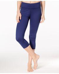 Gaiam Blue Luxe Yoga Capri Leggings