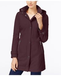 CALVIN KLEIN 205W39NYC - Purple Hooded 4-way Stretch Water-resistant Softshell Raincoat - Lyst