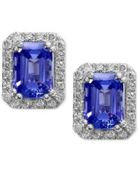 Effy Collection - Metallic Tanzanite Royale By Effy Tanzanite (1-3/4 Ct. T.w.) And Diamond (1/4 Ct. T.w.) Stud Earrings In 14k White Gold - Lyst