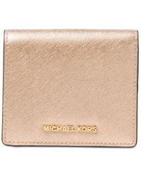 Michael Kors   Natural Michael Jet Set Travel Carryall Card Case   Lyst