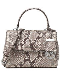 808f655fa4ff Lyst - Michael Kors Michael Ava Mini Crossbody in Gray