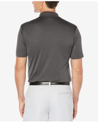 PGA TOUR - Gray Men's Heathered Colorblocked Polo for Men - Lyst