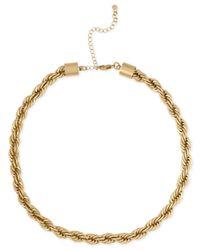 RACHEL Rachel Roy - Metallic Gold-tone Rope Collar Necklace - Lyst