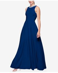 Fame & Partners | Blue Pleated Maxi Dress | Lyst