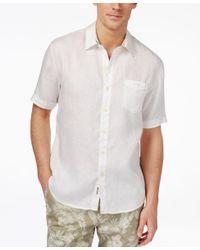 Tommy Bahama | White Men's Party Breezer Linen Short-sleeve Shirt for Men | Lyst