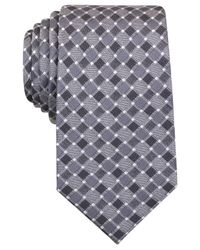 Perry Ellis   Gray Men's Hall Grid Classic Tie for Men   Lyst