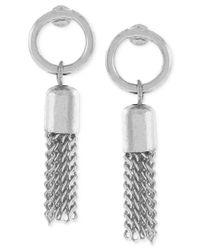 BCBGeneration | Metallic Circle Tassel Drop Earrings | Lyst