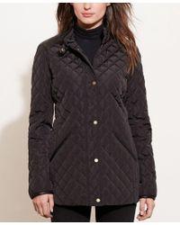 Lauren by Ralph Lauren | Black Diamond-quilted Jacket, Only At Macy's | Lyst