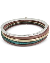 Robert Lee Morris - Multicolor Two-tone And Colored Patina 5-pc. Set Bangle Bracelets - Lyst