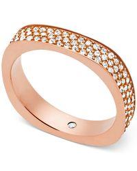 Michael Kors - Metallic Pavé Flat-edge Ring - Lyst