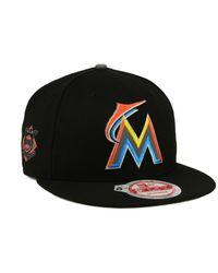 KTZ - Black Miami Marlins Reflect On 9fifty Snapback Cap for Men - Lyst