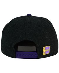 KTZ - Black Los Angeles Lakers Heather Action 9fifty Snapback Cap for Men - Lyst
