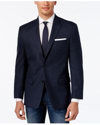 Michael Kors | Men's Classic-fit Blue Check Sport Coat for Men | Lyst