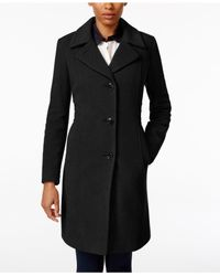 Anne Klein | Black Petite Wool-cashmere-blend Walker Coat, Only At Macy's | Lyst