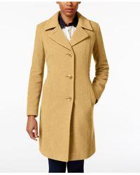Anne Klein | Natural Wool-cashmere Walker Coat | Lyst