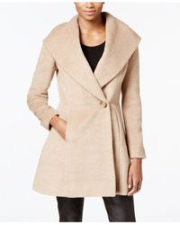 Trina Turk | Natural Wool-blend Skirted Wrap Coat | Lyst