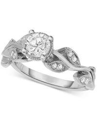 Macy's | Metallic Diamond Vine-inspired Engagement Ring (5/8 Ct. T.w.) In 14k White Gold | Lyst