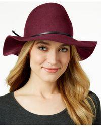 Nine West | Purple Pinched-crown Floppy Felt Hat | Lyst