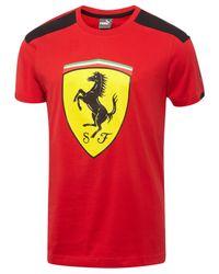 PUMA | Red Men's Ferrari Drycell T-shirt for Men | Lyst