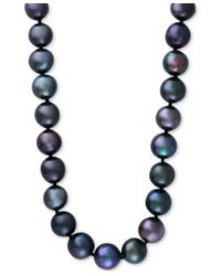 Effy Collection | Blue Effy Cultured Tahitian Pearl (13mm) Collar Necklace In 14k White Gold | Lyst