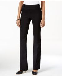 Style & Co. | Black Pull-on Bootcut Pants, Only At Macy's | Lyst