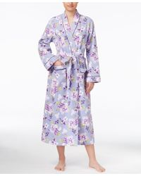Charter Club - Multicolor Floral-print Long Robe, Only At Macy's - Lyst