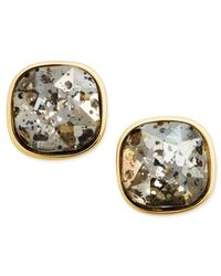 ABS By Allen Schwartz | Metallic Gold-tone Dark Horse Stud Earrings | Lyst