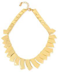Robert Lee Morris | Metallic Gold-tone Sculptural Geometric Collar Necklace | Lyst