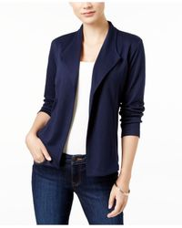 Style & Co.   Blue Knit Blazer, Only At Macy's   Lyst