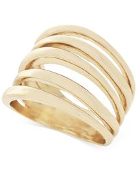 BCBGeneration | Metallic Gold-tone Multi-row Statement Ring | Lyst