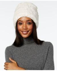 Nine West | White Faux Fur Cuff Cloche | Lyst