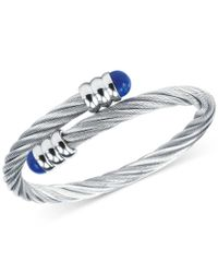 Charriol | Metallic Women's Celtic Lapis Lazuli-accent Stainless Steel Cable Bangle Bracelet | Lyst