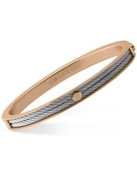 Charriol | Multicolor Women's Forever Two-tone Pvd Stainless Steel Cable Bangle Bracelet 04-102-1139-7 | Lyst