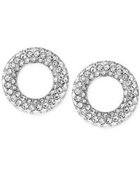 Michael Kors | Metallic Pavé Crystal Circle Stud Earrings | Lyst